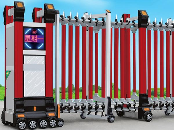 铝合金(红色)-电动伸缩门